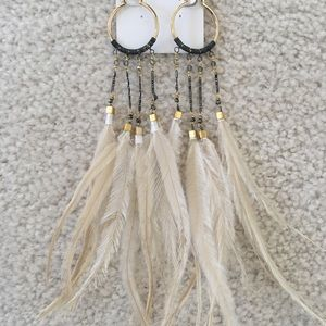 Feathers and Crystals Earrings